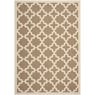 Safavieh Courtyard All-Weather Brown/ Bone Indoor/ Outdoor Rug (9' x 12')