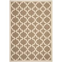 Shop Safavieh Beige Dark Beige Indoor Outdoor Rug 9 X