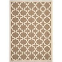 Safavieh Courtyard All-Weather Brown/ Bone Indoor/ Outdoor Rug - 9' x 12'