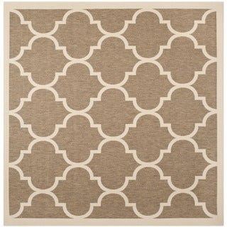 Safavieh Courtyard Moroccan Pattern Brown/ Bone Indoor/ Outdoor Rug (7'10 Square)