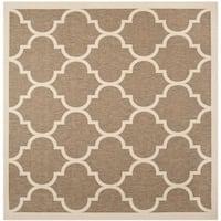 Safavieh Courtyard Moroccan Pattern Brown/ Bone Indoor/ Outdoor Rug - 7'10 Square