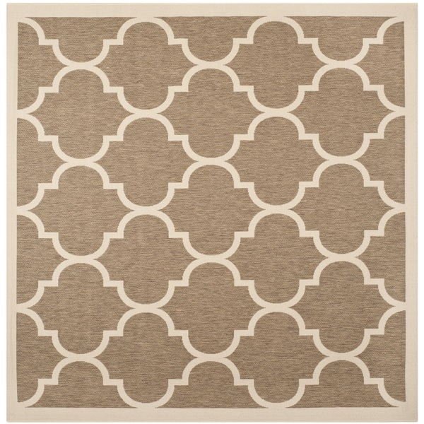 Safavieh Indoor/ Outdoor Courtyard Brown/ Bone Rug (710 Square