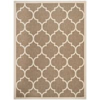 Safavieh Courtyard Moroccan Pattern Brown/ Bone Indoor/ Outdoor Rug - 9' x 12'