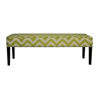 Diane 'Kristin' Lime Green Chevron Bench