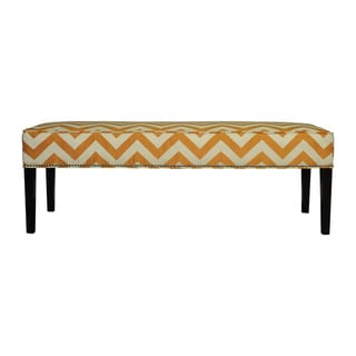 Diane 'Kristin' Orange Chevron Bench