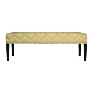 Diane 'Kristin' Yellow Chevron Bench
