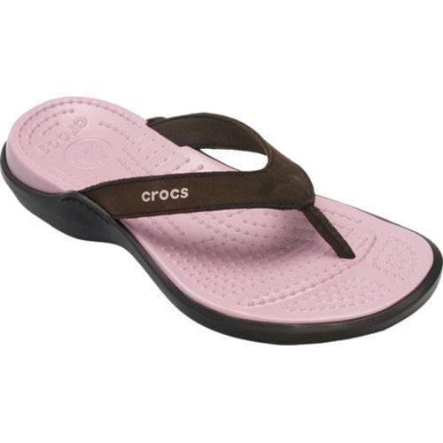 d2d49690a64d Shop Women s Crocs Capri IV Espresso Petal Pink - Free Shipping On Orders  Over  45 - Overstock - 8130270