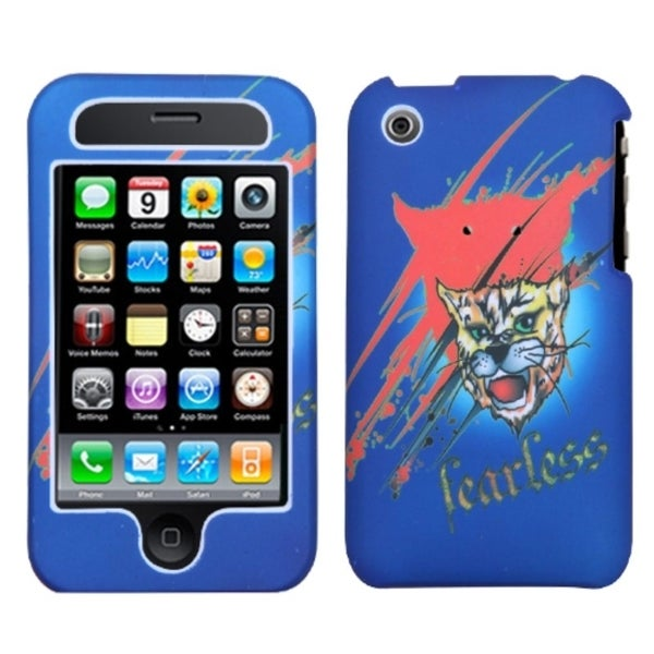 INSTEN Lizzo/ Bobcat Blue Phone Case Cover for Apple iPhone 3GS/ 3G