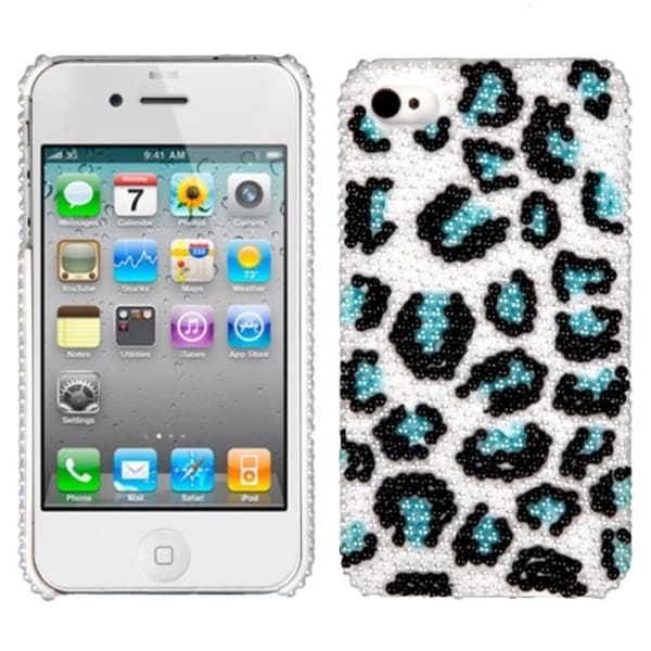INSTEN Leopard/ Black/ Blue/ Pearl Diamond Phone Case Cover for Apple iPhone 4S/ 4