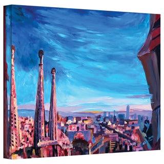 Markus Bleichner 'Barcelona with Sagrada Familia' Gallery-wrapped Canvas