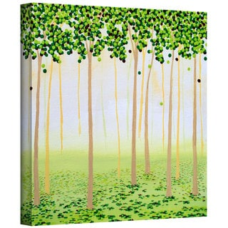Herb Dickinson 'Misty Morning Forest' Gallery Wrapped Canvas