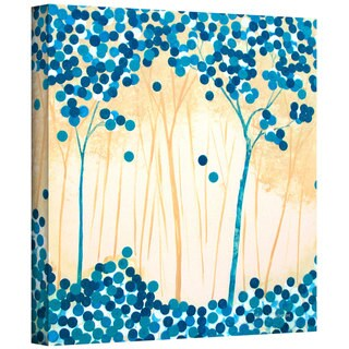 Herb Dickinson 'Turquoise Forest I' Gallery Wrapped Canvas