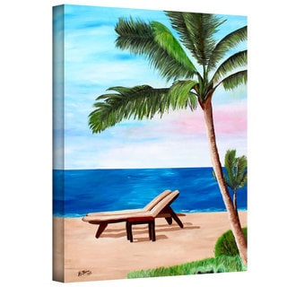 Martina Bleichner 'Strand Chairs on Caribbean Beach' Gallery Wrapped Canvas