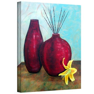 Herb Dickinson 'Crimson Pursuit I' Gallery Wrapped Canvas