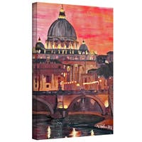 Martina Bleichner 'Rome Eternal City with Vatican' Gallery Wrapped Canvas