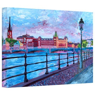 Martina Bleichner's 'Stockholm City View' Gallery Wrapped Canvas