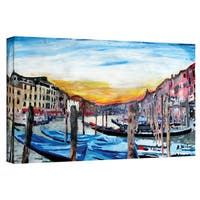 Martina Bleichner 'Gondolas on Canale Grande in Venice' Gallery Wrapped Canvas