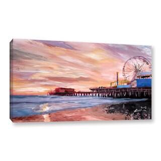 Markus Bleichner 'Santa Monica Pier at Dusk' Gallery Wrapped Canvas