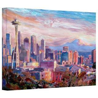 Markus Bleichners Seattle Skyline With Space Needle Gallery Wrapped Canvas
