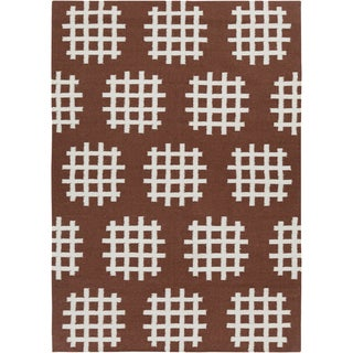Artist's Loom Handmade Flatweave Contemporary Reversible Rug (5' x 7')