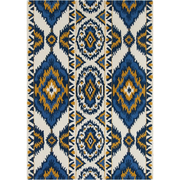 Artist's Loom Hand-tufted Contemporary Abstract Wool Rug - 7' x 10'