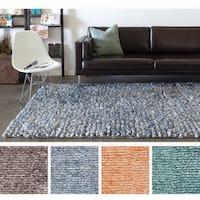 Artist's Loom Hand-woven Shag Rug (5' x 7'6) - 5' x 7'6