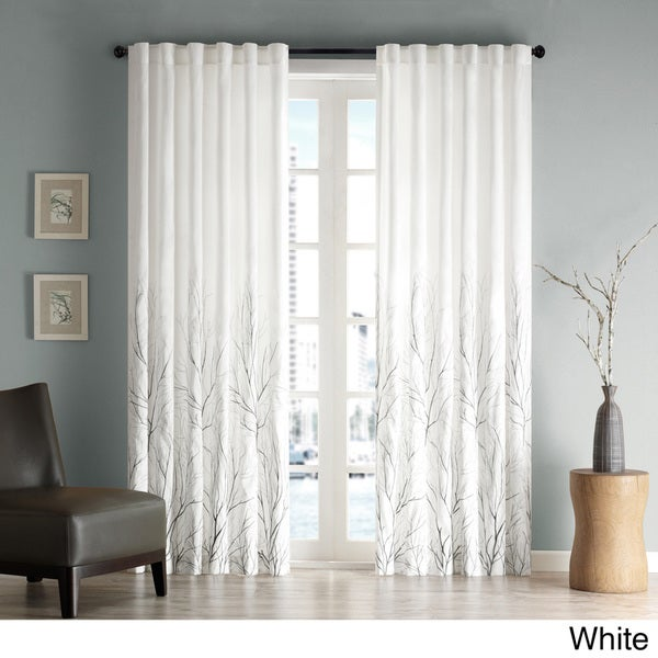 Madison Park Eliza Embroidered Faux Silk Curtain Panel   Free Shipping On  Orders Over $45   Overstock.com   15478285