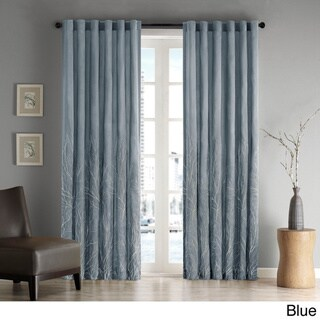 Porch & Den McClugage Embroidered Faux Silk Curtain Panel
