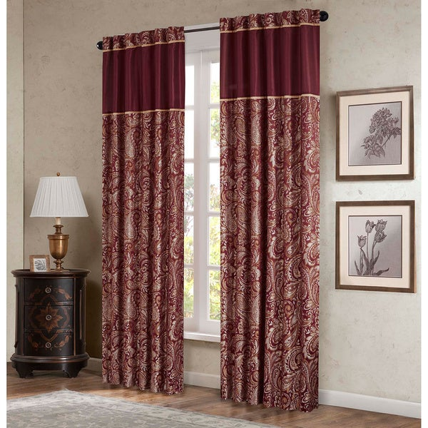 Madison Park Whitman Curtain Panel Pair Free Shipping Today Com 15478287