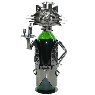 Cat Waiter Wine Bottle Holder Caddy