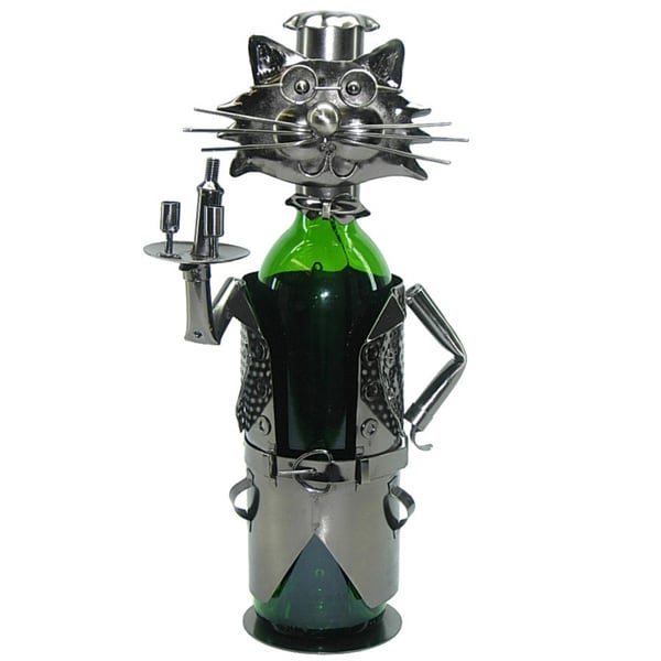 Cat Waiter Wine Bottle Holder Caddy