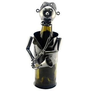 Wine Bottle Holder Sax Player Wine Caddy
