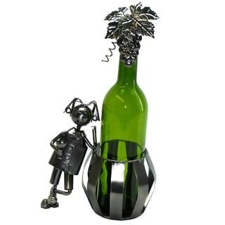 Wine Bottle Holder Man & Barrel Wine Caddy