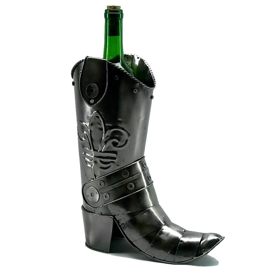 Wine Bottle Holder Cowboy Boot Wine Caddy, Silver Steel (...