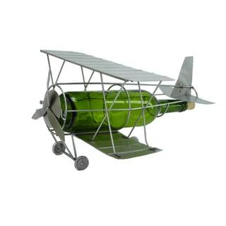 Antique Airplane Wine Bottle Holder