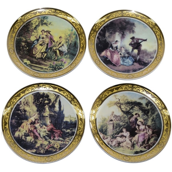 Scenery 4-piece Decorative Wall Hanging Plates  sc 1 st  Overstock & Scenery 4-piece Decorative Wall Hanging Plates - Free Shipping Today ...