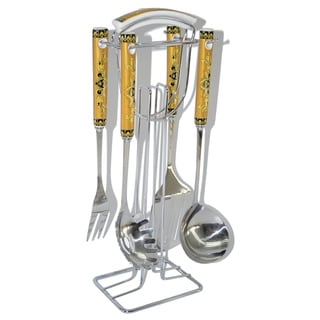 4-piece Serving Set with Stand