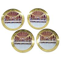 4-piece 9.5-inch Last Supper Plates