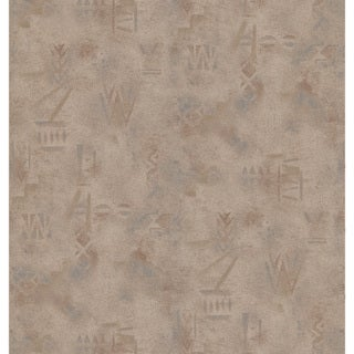 Brewster Taupe Tribal Texture Wallpaper