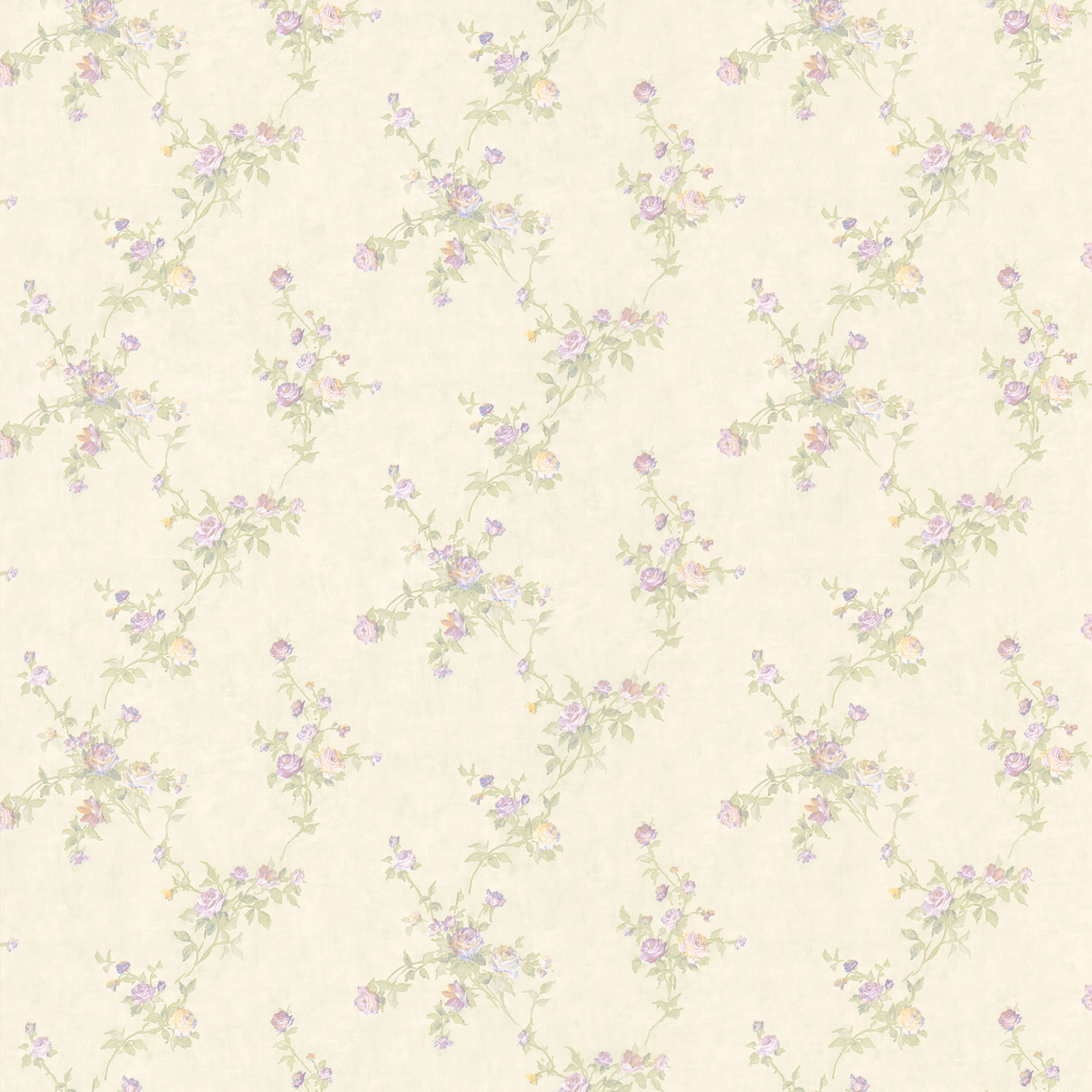Shop Lavender Small Floral Print Wallpaper Overstock 8133726