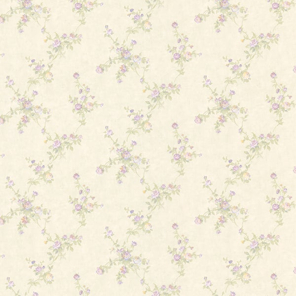 shop lavender small floral print wallpaper free shipping on orders