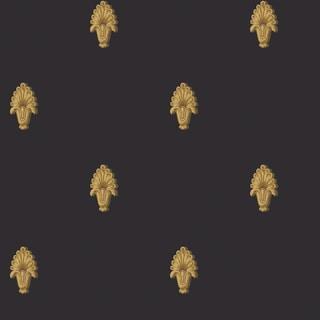 Black Classic Pattern Wallpaper