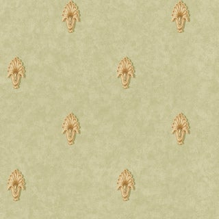 Olive Classic Pattern Wallpaper