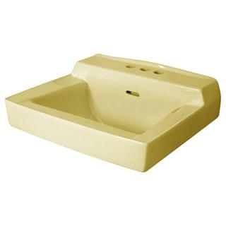 Fine Fixtures Wall Mount Biscuit Ceramic Chinaware Sink