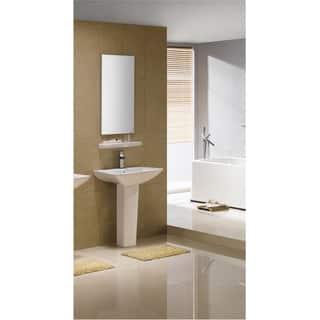 24 inch bathroom sink. Fine Fixtures Modern Square White Single Holle Ceramic Pedestal Sink 18  24 Inch Bathroom Sinks For Less Overstock com