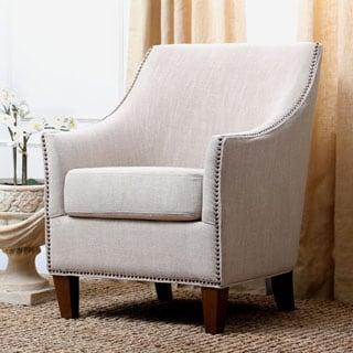 Abbyson Kimberly Fabric Nailhead Trim Armchair