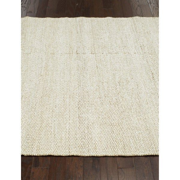 nuLOOM Flatweave Textured White Seagrass Rug (5' x 8')