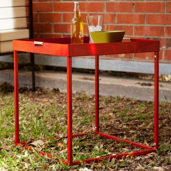 Upton Home Almaden Red Indoor/ Outdoor Butler Accent Table