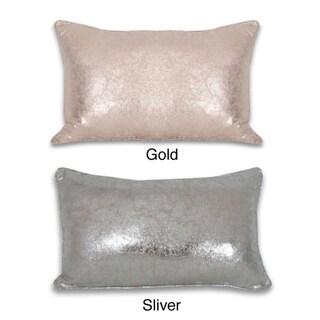 Crackle Metallic 12 x 20-inch Throw Pillow
