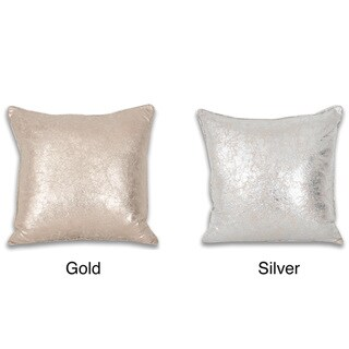 Crackle Metallic 18 x 18-inch Throw Pillow